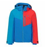 Sch?ffel /rode jongens ski jas tours met 10.000mm waterkolom blauw