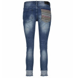 Bianco Jeans Baggy jeans 1219475-indian tribe blauw denim