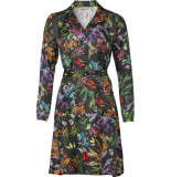 Geisha 97827-20 999 jurk all over print flower black/multicolour zwart