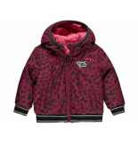 Quapi Winterjas vallie reversible bordeaux rood