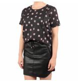 NA-KD Graphic t-shirt blouse zwart