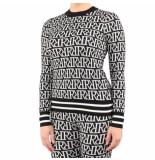 Reinders Rr print sweater zwart