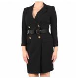 Elisabetta Franchi Moves Womens dress with belt zwart