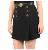 Elisabetta Franchi Moves Women's skirt with belt zwart