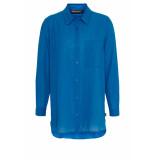 DIDI Oversized blouse van zacht katoen blauw