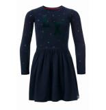 Little Looxs Jurk met flair rok voor meisjes in de kleur blauw