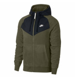 Nike M nsw hoodie fz core wntr snl 929114-395 groen