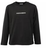 Dolce and Gabbana Kids T-shirt manica lunga zwart