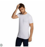 Bamboo Basics 2pack heren tshirt extra long fit ronde hals wit