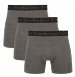 Bamboo Basics 3pack heren boxershorts grijs