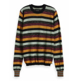 Scotch & Soda 153217 0602 fitted pullover in multicolour lurex stripe combo w