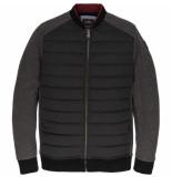 Vanguard Vsw197216 996 zip jacket track sweat antracite melee zwart