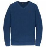 Vanguard Vkw197130 5331 v-neck cotton twisted navy peony blauw