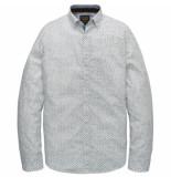 PME Legend Psi197201 7003 long sleeve shirt poplin print bright white wit