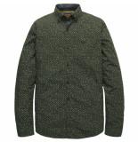 PME Legend Psi197201 6154 long sleeve shirt poplin print rosin groen