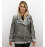 Z-design Imitatie lammy coat dames – grijs