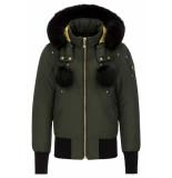 Moose Knuckles Sainte flavie jas groen / goud