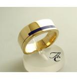 Christian Lapis lazuli ring geel goud