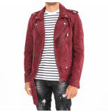 Pure White Leather jacket rood