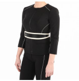 Elisabetta Franchi Moves Woen's jacket with belt zwart