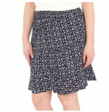 NA-KD Fower short smock skirt blauw