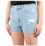 NA-KD Ebroidered deni shorts blauw