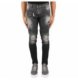 Boragio Biker jeans zwart