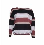 20 TO 20to rosa stripe trui 9841riga zwart