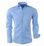 Montazinni Slimfit overhemd stretch licht blauw
