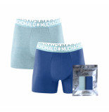 Muchachomalo Men 2-pack short solid blauw