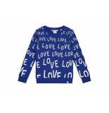 Nik & Nik Sweater love aop blauw