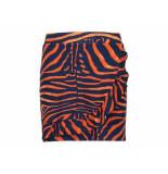 Geisha Rok zebra red navy blauw