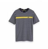 Scotch & Soda striped t-shirt blauw