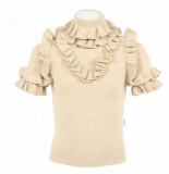 Reinders Monique ruffle lurex beige