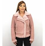 Z-design Bikerjack suede lammy coat roze