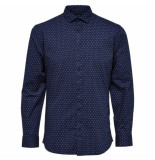 Selected Homme Selected freddie-camp shirt blauw
