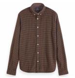 Scotch & Soda brushed shirt bruin