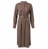 YAYA Halflange jurk 1801179-924 bruin
