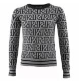 Reinders Rr print sweater grijs