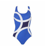 Tweka Swimsuit half lining 10396 blauw