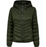Only Play Demi aw hooded nylon jacket otw 15181996 groen