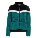 Only Play Fluffy colorblock jacket 15176176 zwart