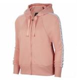Nike W nk dry get fit flc hd fz j bv5041-606 rood