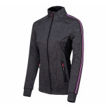 Sjeng Sports Ss lady fullzip top sammy sammy-g357 grijs