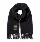 Scotch & Soda wool scarf zwart