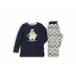 Charlie Choe Pyjama pinguin navy blauw