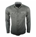 Ferlucci Heren overhemd lecce flausch flanel stretch army