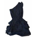 Nikkie Sassy dress zwart multi drops