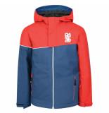 Dare2b /blauwe jongens ski jas debut waterproof 20.000mm rood