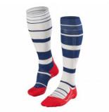 Falke Sk4 stripe navy-rood-wit 16532-6000 blauw